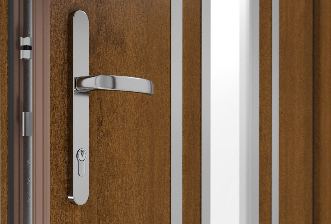 AUTOMATIC MACO ESPAGNOLETTE AS A STANDARD IN DRUTEX PVC DOOR ACCESSORY!