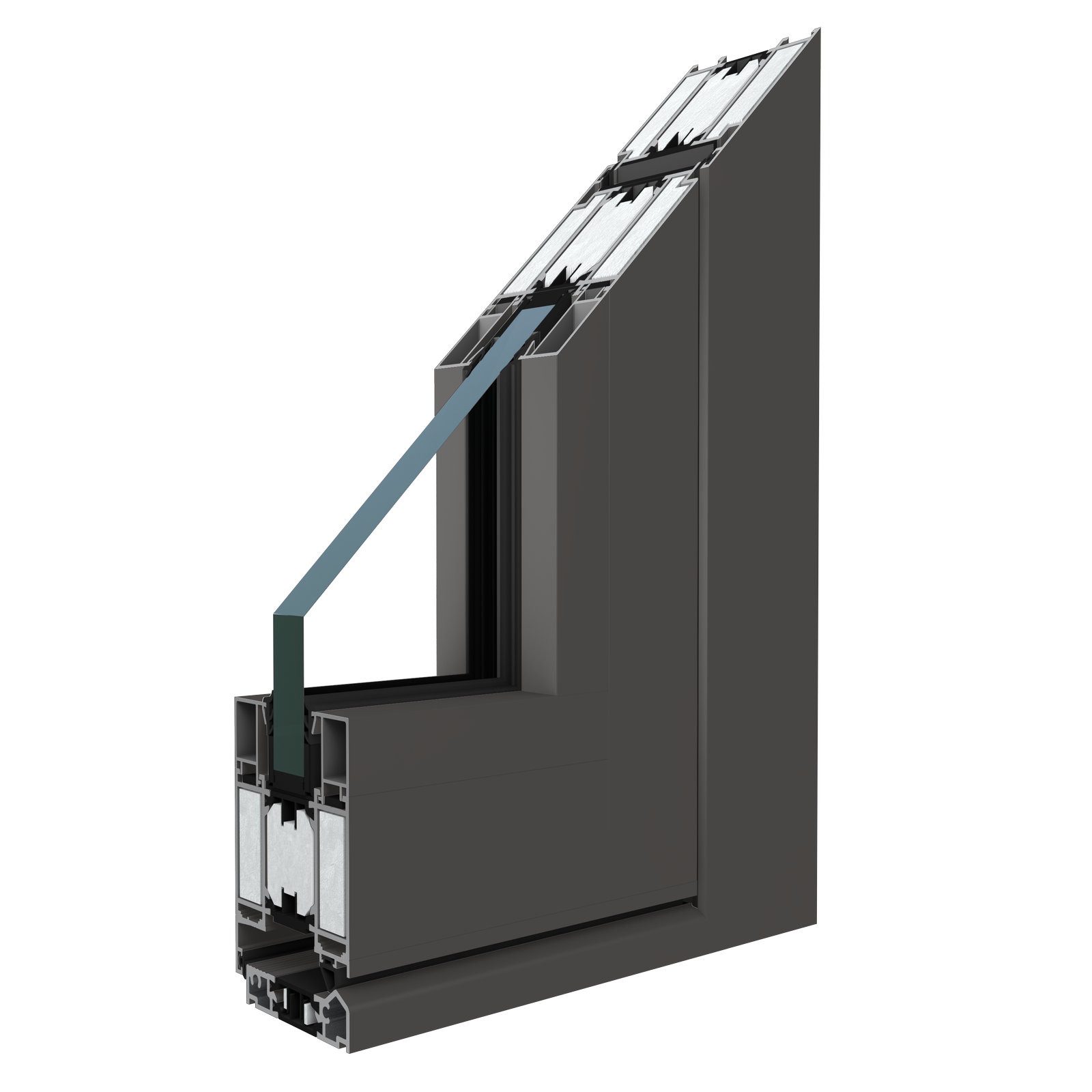 The MB-78EI system structure is based on insulated thermal aluminum profiles with depth 78mm.