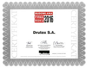 Drutex receives the awards: the Construction Company of the Year and the Sector Personality.