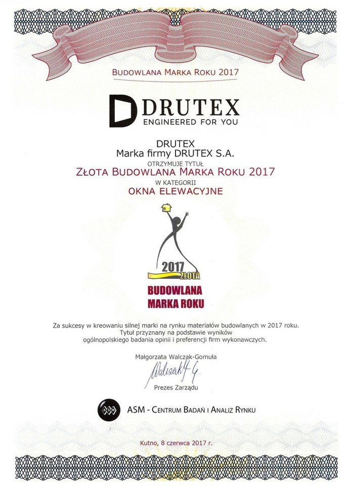Drutex  among the best construction companies in Poland!